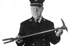 Hugh Halligan with the tool.