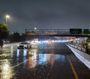 Long Island Expressway in New York City shut down due to flash flooding from Post-Tropical Storm Ida's landfall.