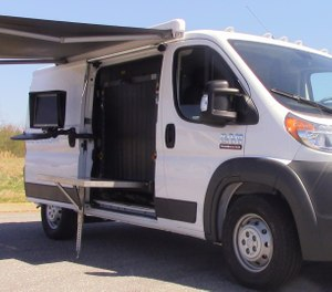 The ScanVan from Smiths Detection offers law enforcement agencies the ability to quickly and easily establish temporary X-ray screening checkpoints to catch potential threats and stop bad actors before they gain access to mass gatherings. (image/Smiths Detection)