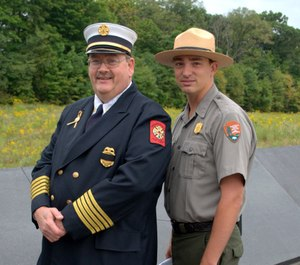 Chief Shaffer and his son, Adam, who is now the Chief of Interpretation at the Flight 93 Memorial.