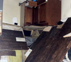 The floor collapsed at a large party in Athens, Ga., on Friday, injuring 25 people.