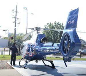 The helipad at University of Louisville Hospital.