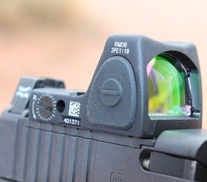 A RMR optic mounted on a gun