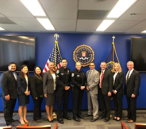 Anti-Virtual Kidnapping Task Force Members, including Beverly Hills PD, received a commendation from the FBI for their groundbreaking arrest. (Photo/Beverly Hills PD)
