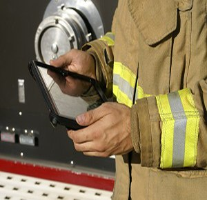 Fire departments can deployed the Rhodium™ Incident Management Suite to access electronic maps.