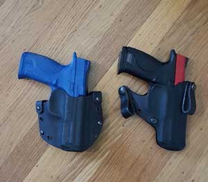 Ideally, you have already purchased an inert replica of your handgun — either a Blue Gun or a SIRT Pistol from Next Level Training. If you don't possess such a training tool, it's advisable to unload and inspect your firearm to ensure that there is no possibility of an accidental (or negligent) discharge in your training environment.