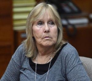Susan Mellen sits in Torrance Superior Court in Torrance, Calif.  (Brad Graverson/The Orange County Register via AP, File)