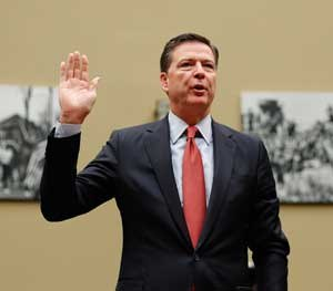 FBI Director James Comey sent a letter to relevant House and Senate Committees in which he indicated that the investigation into Hillary Clinton's home-brew email server would be reopened.