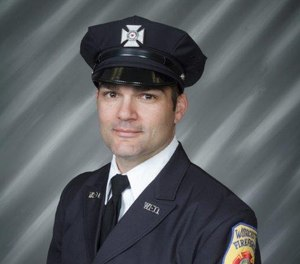 Worcester Fire Lt. Jason Menard died in November while searching for people he believed were trapped on the third floor of a burning building. The National Institute for Occupational Safety and Health is now investigating the fire. (Photo/Worcester Fire Department Facebook)