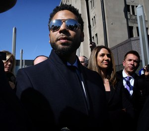 Actor Jussie Smollett leaves the Leighton Criminal Court building, after all charges were dropped in his disorderly conduct case on March 26, 2019. (Antonio Perez/ Chicago Tribune/TNS)