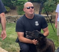 Watch: Mo. officers give K-9 final pats after terminal cancer diagnosis