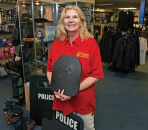 Karen Allan Ballengee, owner of Southern Police Equipment, has over 40 years' experience in keeping law enforcement officers safe.