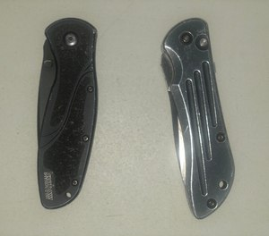 Policing is a dangerous business soI recommend carrying two knivesso either hand can reach one when needed.