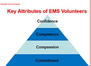 For a volunteer EMS organization to flourish, its personnel need to exemplify four attributes.