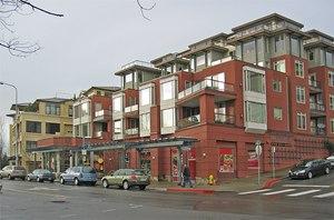 Mixed-use infill development supports walkable downtown Kirkland, Washington. Image: Brett VA/Wikimedia Commons