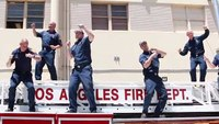 Calif. fire, police depts. dance to raise funds for girl with cerebral palsy