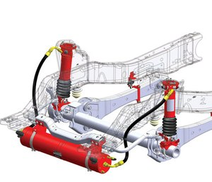 Variable stiffness and damping is adjusted automatically and instantaneously.