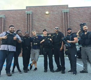 Richland County Sheriff's Deputies with LIVE PD crew.