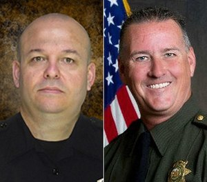 Deputy Danny Oliver, left, and Placer County sheriff's Detective Michael Davis Jr were killed by Luis Bracamontes in 2014.