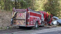 3 killed in head-on crash with Wash. fire engine