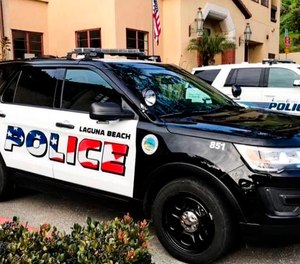 The Laguna Beach Police Department shows their newly decorated Police SUV patrol vehicles