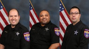 Officer David Juarez, Officer Mark Gaines and Officer Daniel Pennington used Naloxone to save the life of an inmate suffering from an opioid overdose.