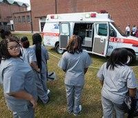 Retired ambulance donated to high school EMT program