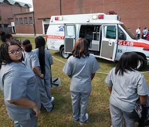 A retired ambulance has found new life as a learning tool for high school students. (Photo/University of Mississippi Medical Center)