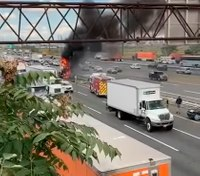 Off-duty volunteer FF, former EMT help save truck driver engulfed in flames on NJ Turnpike