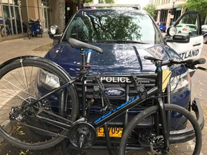 The new collapsible, adjustable, universal bike rack from Setina offers a fast, easy and secure solution for bike transport that also preserves visibility while officers are driving.