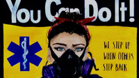 'Modern Day Rosies': How one paramedic channeled her pandemic emotions into a tribute to female essential workers