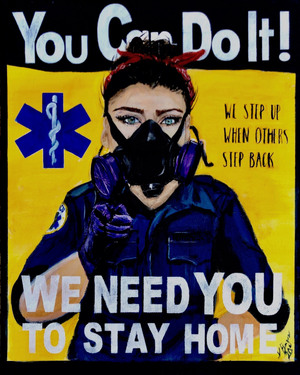The first painting in Paramedic Kate Bergen's series,