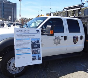 The MEOC Support Vehicle at the 2019 California Mobile Command Center Expo.