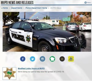 Your digital, as well as physical communities, should know to turn to you as a primary source of information.(Photo/Mountain View Police Department)