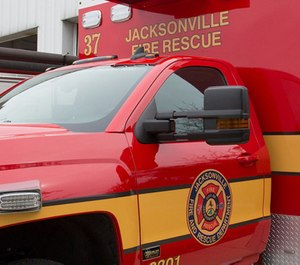 The Jacksonville Fire Rescue Department's Technical Rescue Team worked underwater to rescue a man whose leg became trapped in a boat propeller.
