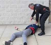 Defensive tactics training: How to get a suspect from his back to his stomach