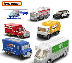 The expanded #ThankYouHeroes collection by Mattel includes a set of seven Matchbox vehicles including an ambulance, mobile hospital and police car.