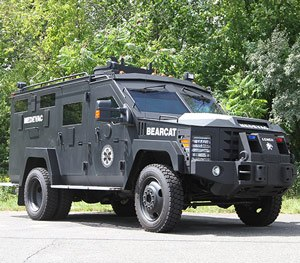 The truck is built to military specifications with steel construction. (Lenco Image)