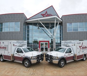 MedStar Mobile Healthcare in Fort Worth, Texas, reduced provider injuries and the resulting lost time hours and workers compensation expenses after adopting powered patient transport equipment from Stryker. (image/MedStar Mobile Healthcare)