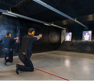 Officers from Suwanee, Georgia PD sharpening their skills at the live fire range. (image/Meggitt Training Systems)