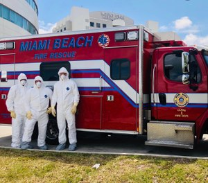 Some departments, like Miami Beach Fire Rescue, have established dedicated COVID-19-only response units, an attempt to limit the spread among crews and transport units. (Photo/Miami Beach Fire Rescue)