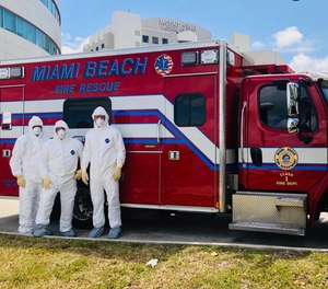 Some departments, like Miami Beach Fire Rescue, have established dedicated COVID-19-only response units, an attempt to limit the spread among crews and transport units.