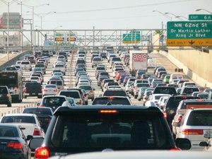 Rush hour in Miami, Florida Image: B137/Wikimedia Commons