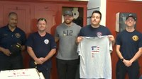 Pittsburgh Pirates players visit Pa. station to honor fallen member