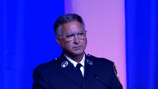 FDNY Lt. (ret.) Joe Minogue commenced the 9/11 Memorial Ceremony.