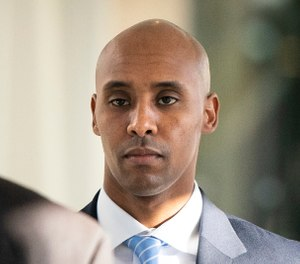 Former Minneapolis police officer Mohamed Noor walks to court in Minneapolis. (Leila Navidi/Star Tribune via AP, File)