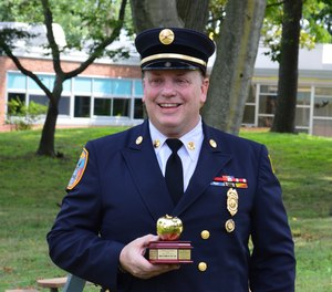 Motchkavitz was recognized as the Firemen's Association of the State of New York (FASNY) 2020 FASNY Teacher of the Year. (Courtesy photo)
