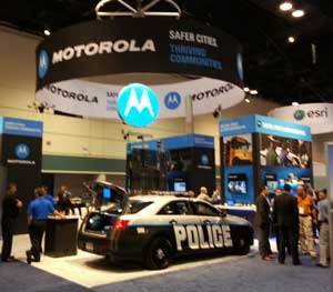 The Motorola Solutions booth was abuzz following the announcement of their latest mission-critical communications solution for public safety.