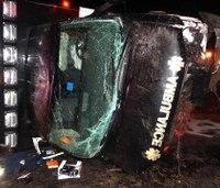 Officials: Driver fell asleep in fatal ambulance crash