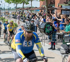 Cyclists during a past Ride of Honor.